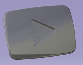 Youtube Button 3D printable model