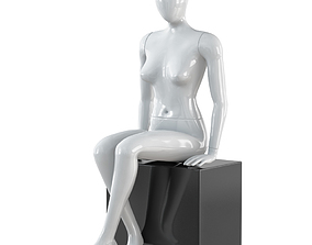 Abstract female mannequin 21 3D model