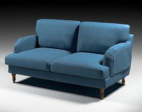 armchair IKEA Loveseat stockbund-blue 3D model