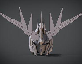 3D print model RX-0 Unicorn Gundam 02 Banshee Norn Head