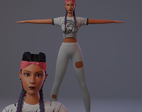 3d character Kelly rigged