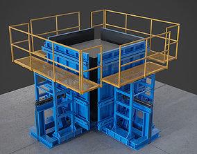 casting elevators 3D