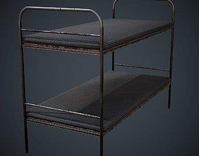 Bed PBR Low Poly 3D asset