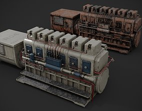 3D model Industrial diesel-generator