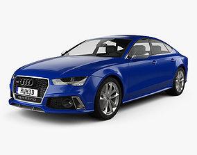 3D model Audi RS7 4G Sportback Performance 2015