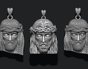 Jesus head pendants pack 3D printable model