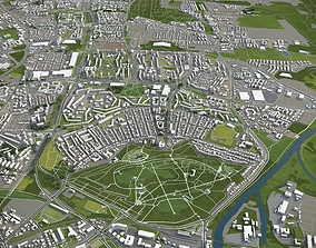 Poznan - city and surroundings 3D asset