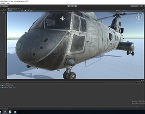 High-end Skinned Helicopter 3D asset