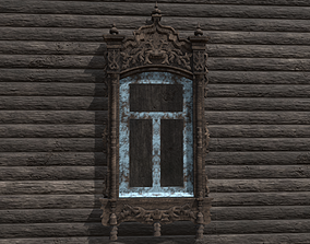 Window wooden platband 3D model