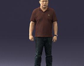 Chinese man brown shirt 0520 3D Print Ready