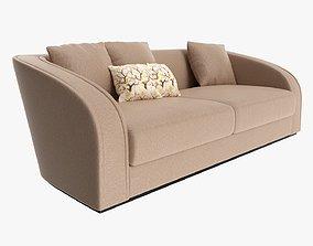 3D Loveseat sofa 02