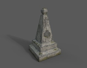 Gravestone 3D asset