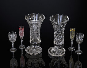 3D printable model DECORATIVE CRYSTALGLASS TWO SETS