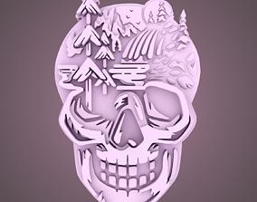 jewelry 3D printable model Skull Design