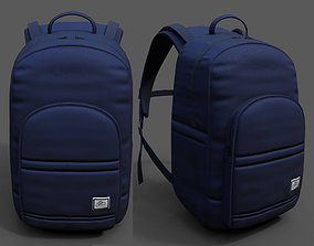 3D model Backpack Camping Generic military color 2