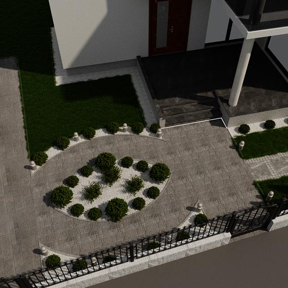 Render,  Yard design