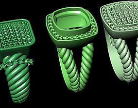 3D print model niloofar 3 david yurman rings