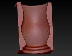 Concrete Vase Mold 3D print model H25cm