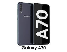 3D Samsung Galaxy A70 Black black
