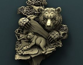 Twin bears 3d stl model for cnc