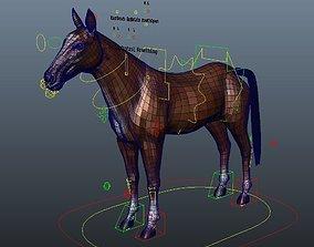 Rig Horse 3D asset