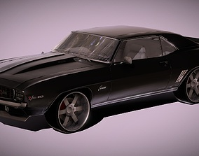 game-ready Chevrolet Camaro 1969 Muscle Car 3D Model