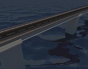 Bridge section Tileable 3D asset