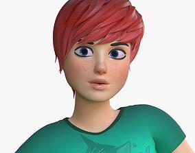 Teen Girl cartoon 3D