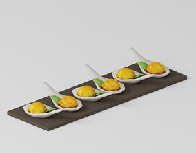 Party Food Mini Crab Cake 3D model