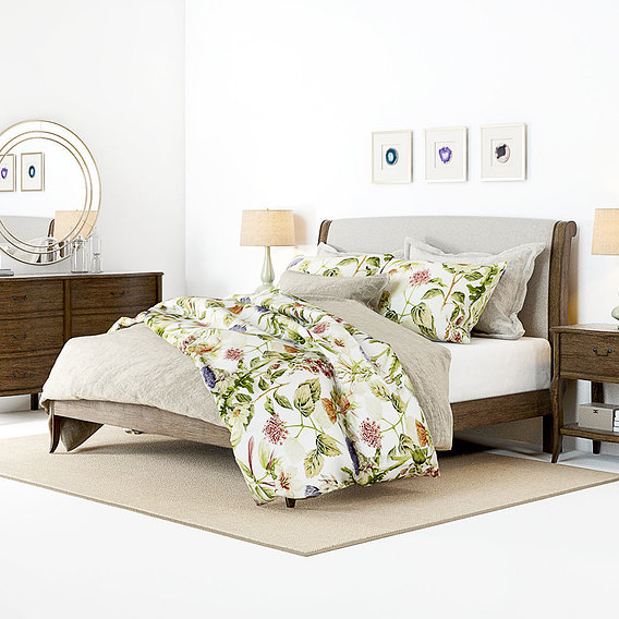 Furniture Visualization - Pottery Barn Calistoga Bedroom