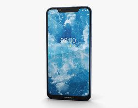 Nokia 8-1 Blue Silver 3D