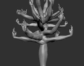 Tree of hands 3D print model