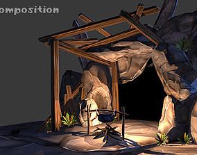 Cave assets 3D model