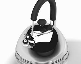 3D model Metal SIlver Teapot 2