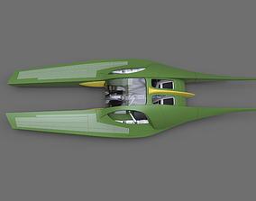 3D print model Star Wars Zam speeder