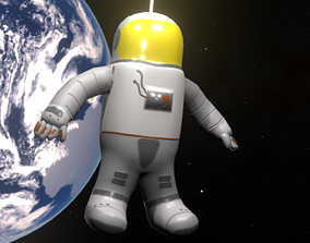Astronaut Lo-Poly PBR 3D model