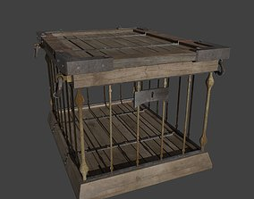 3D model rigged Wooden Crates
