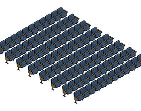 Parametric Audience Seating Array - Revit Family 3D model
