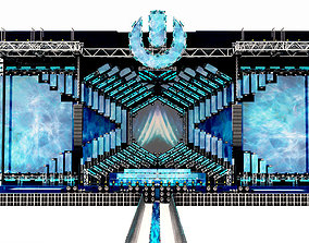 3D model UMF Ultra Music Festival Miami Main Stage 2018 2