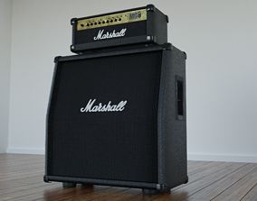 Marshall Guitar Amp and Header 3D model