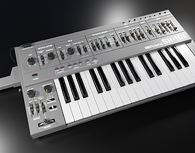 3D model Synthesizer Roland SH-101