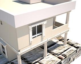 Modern Villa ready for v-ray render 3D model