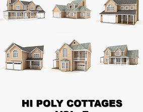 Hi-poly cottages collection vol 7 3D