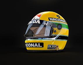 3D Ayrton Senna Monaco Grand Prix Helmet 1988