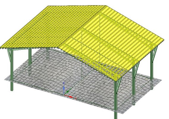 Design of a canopy of designs of shelters for the parking and the parking