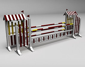 3D Horse jump obstacle 10