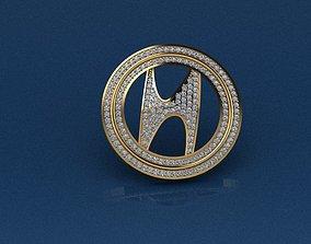 Hyundai Key chain 3D print model