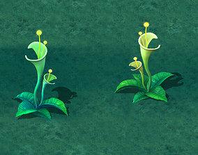 Cartoon version - plant mysterious 3D model