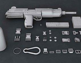 Clips-button-gun-flask 3D asset