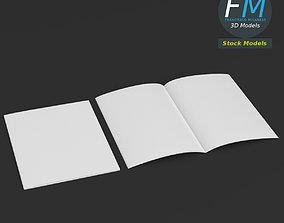 3D model Brochure mockups